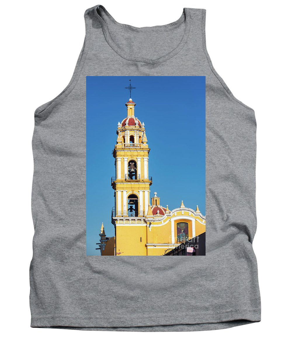 Mexico Tank Top featuring the photograph San Pedro Church Tower by Jess Kraft