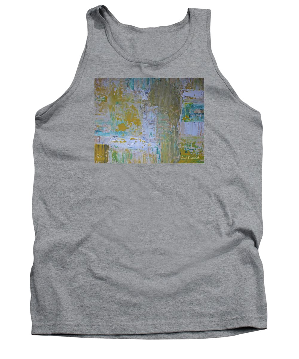 Abstract Tank Top featuring the painting Sanctuary by Dick Bourgault