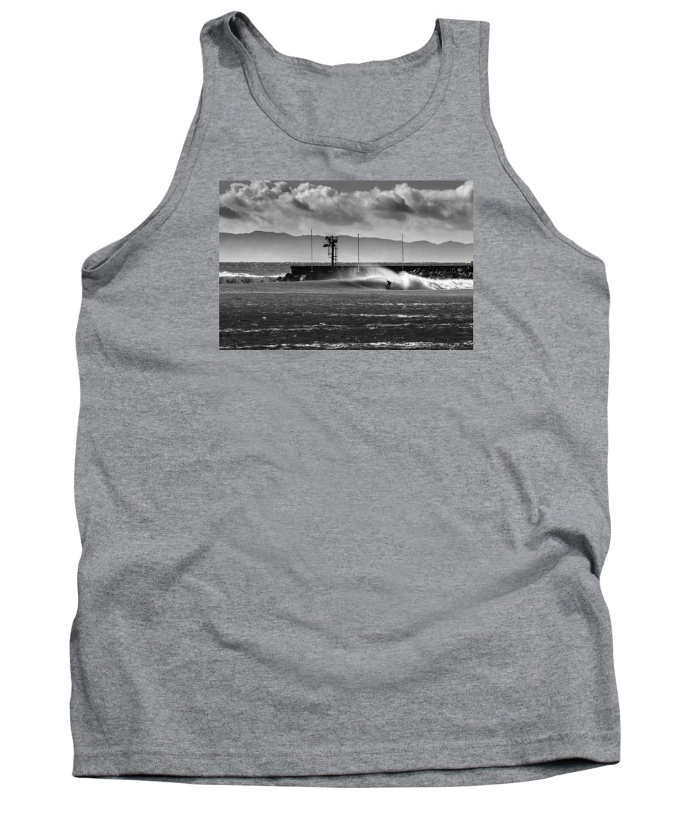 Surf Tank Top featuring the photograph Sandbar 2 by Zach Brown