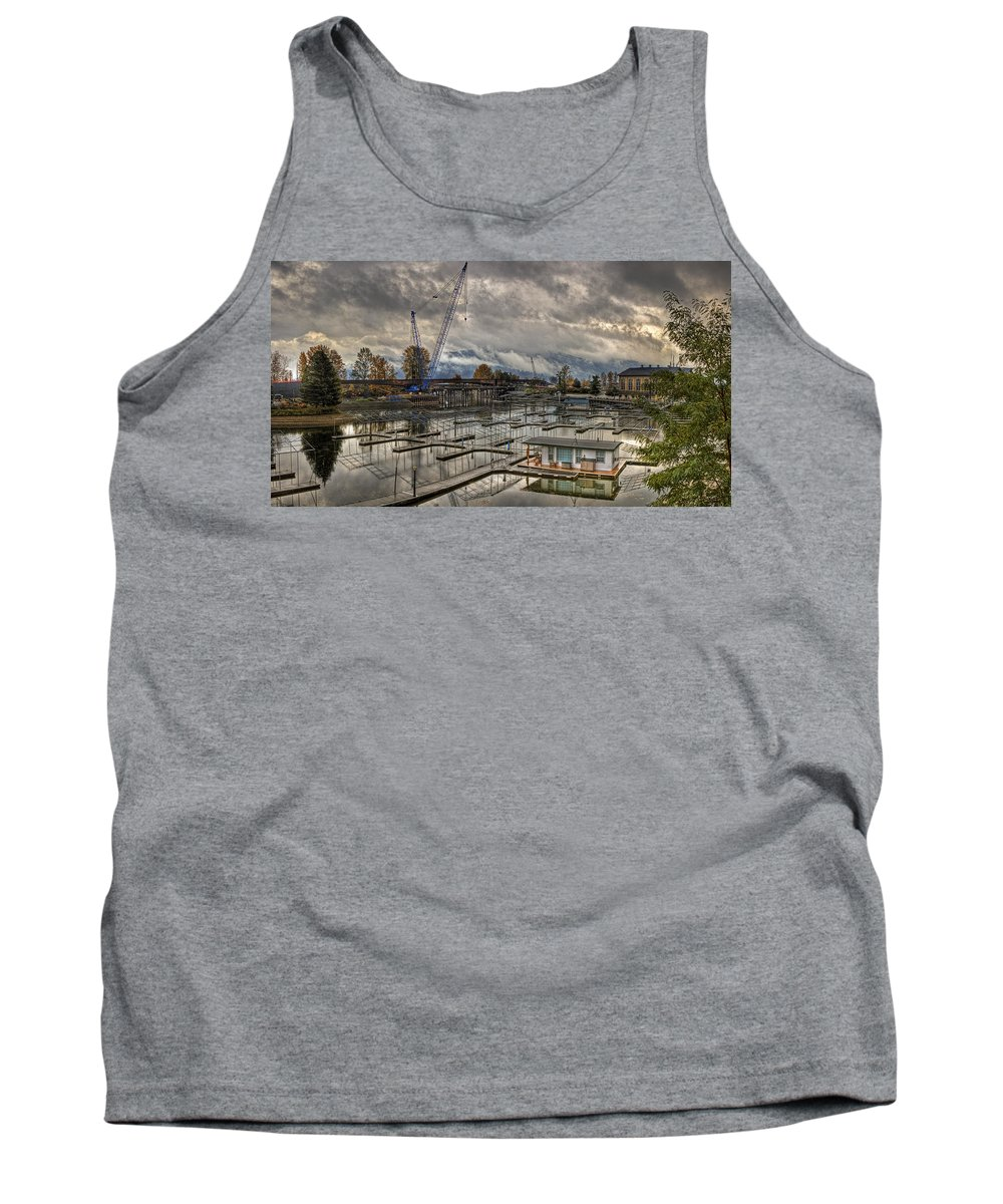 Tank Top featuring the photograph Sandpoint Marina 2 by Lee Santa