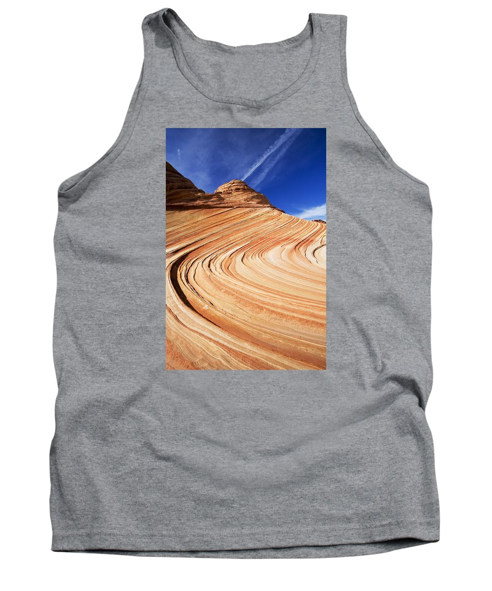 The Wave Tank Top featuring the photograph Sandstone Slide by Mike Dawson