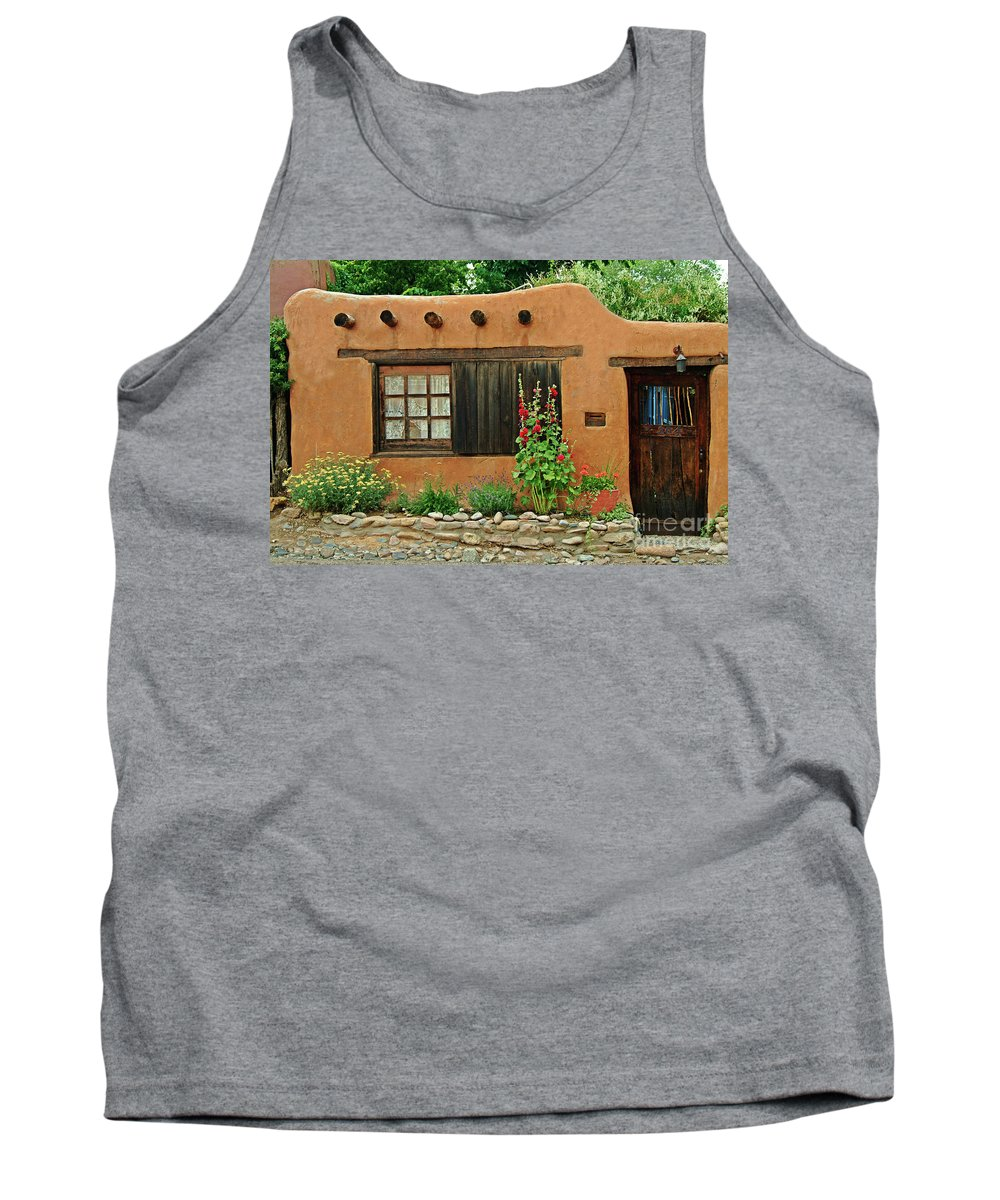 Adobe Tank Top featuring the photograph Santa Fe Adobe by Charlene Mitchell