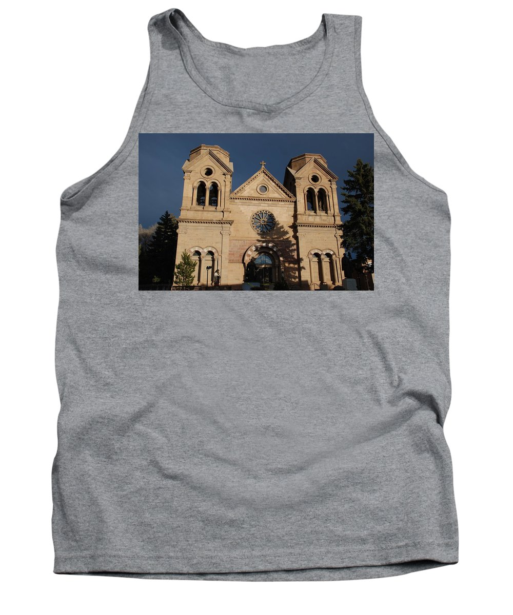 Architecture Tank Top featuring the photograph Santa Fe Church by Rob Hans