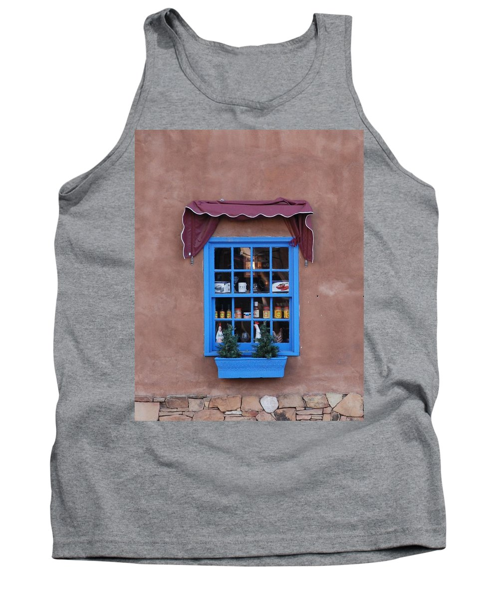 Architecture Tank Top featuring the photograph Santa Fe Window by Rob Hans