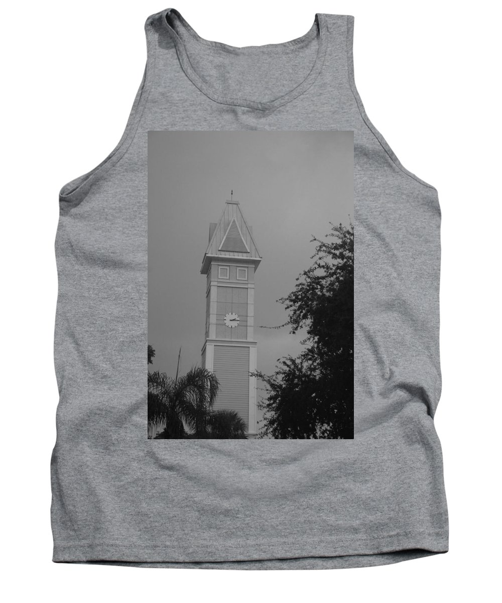 Black And White Tank Top featuring the photograph Save The Clock Tower by Rob Hans