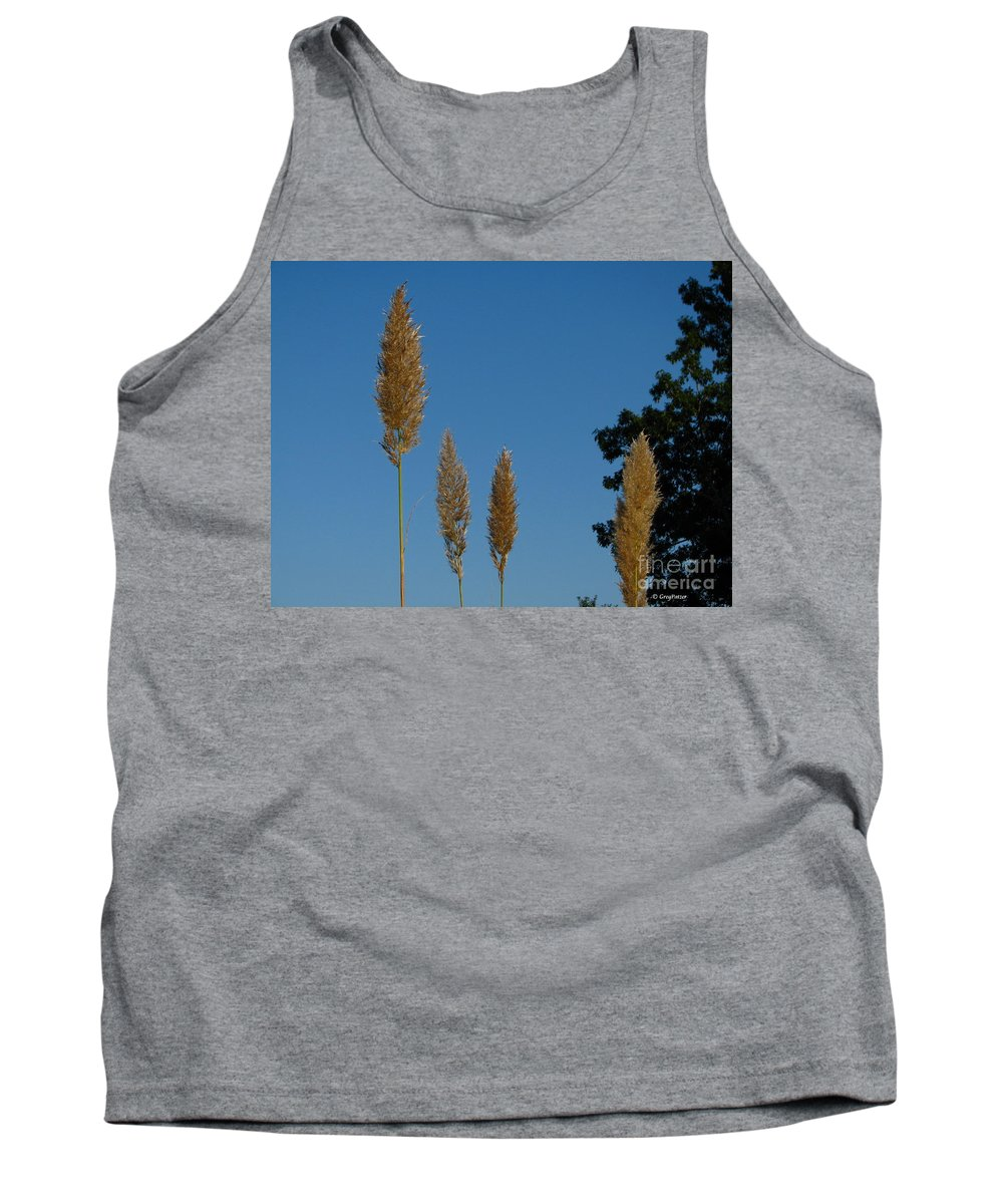 Patzer Tank Top featuring the photograph Sawgrass Blooms by Greg Patzer