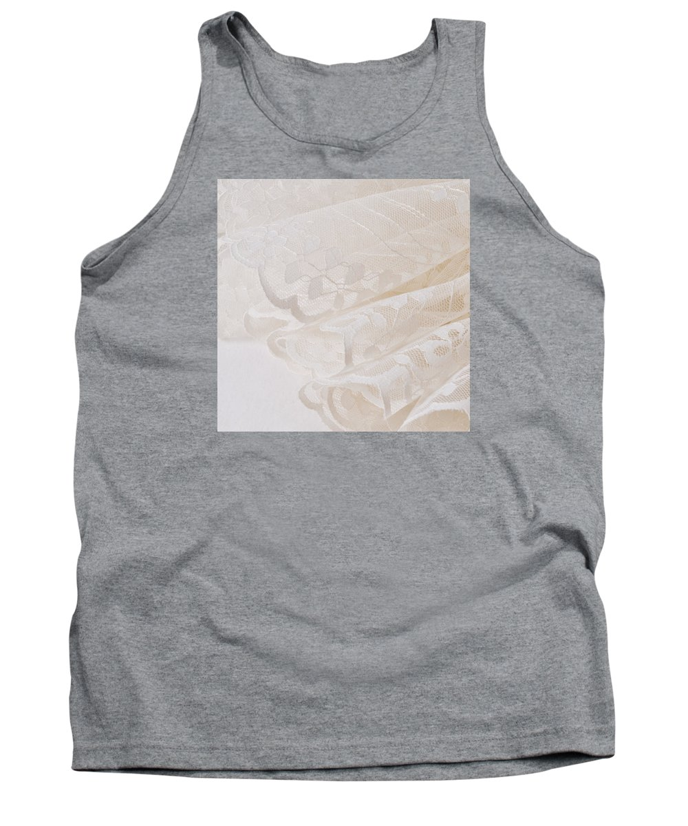 Lace Tank Top featuring the photograph Scalloped Lace by Sandra Foster