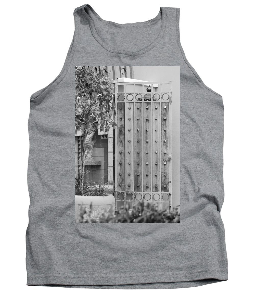 Black And White Tank Top featuring the photograph Sea Horse Gate by Rob Hans