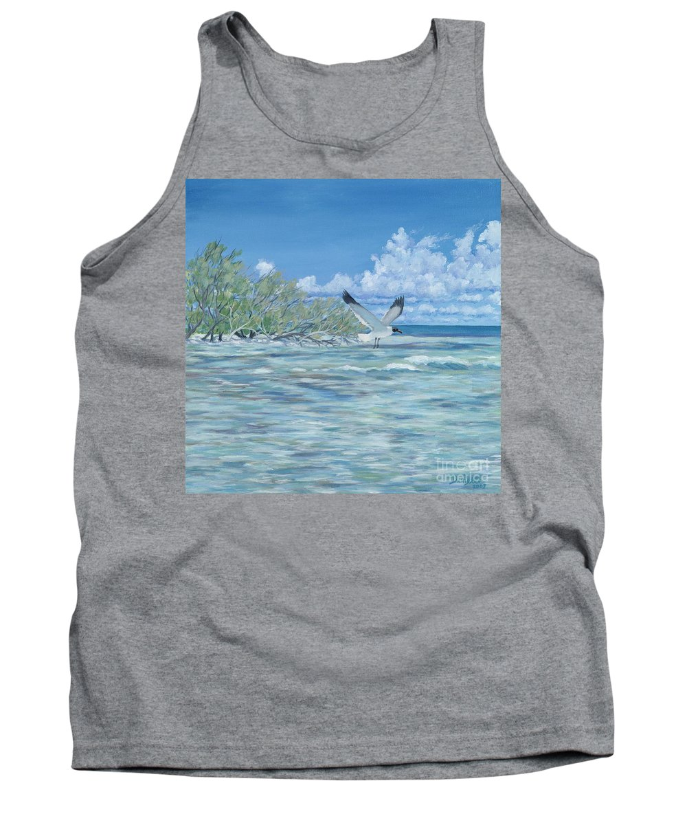 Seascape Tank Top featuring the painting Seablue by Danielle Perry