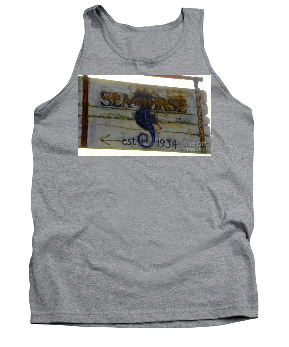 Seahorse Tank Top featuring the painting Seahorse Est. 1934 by David Lee Thompson