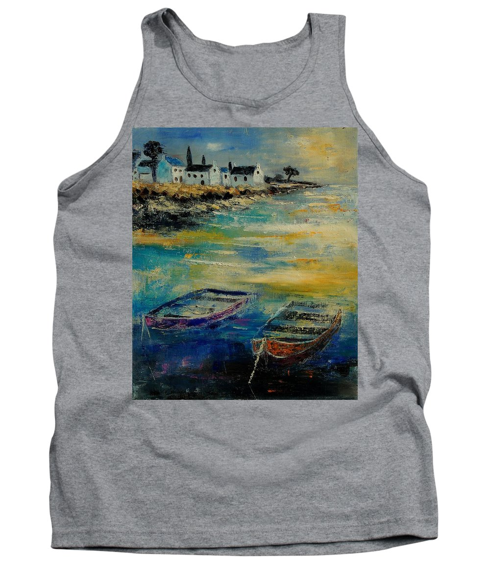 Sea Tank Top featuring the painting Seascape 5614569 by Pol Ledent