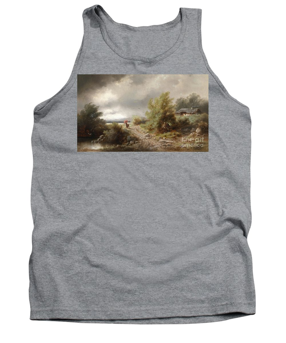 Albert Rieger Tank Top featuring the painting Seascape by Celestial Images