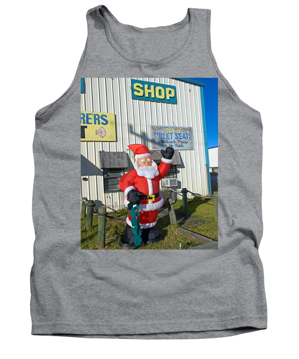 Florida; Christmas; Gift; Santa; Claus; Suggestion; Suggest; Present; Recommend; Recommendation; Cap Tank Top featuring the photograph Seashell Seats For Christmas by Allan Hughes