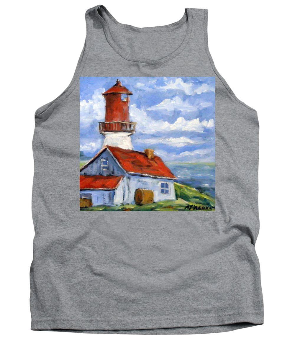 Art Tank Top featuring the painting Seaside Sentinal by Richard T Pranke