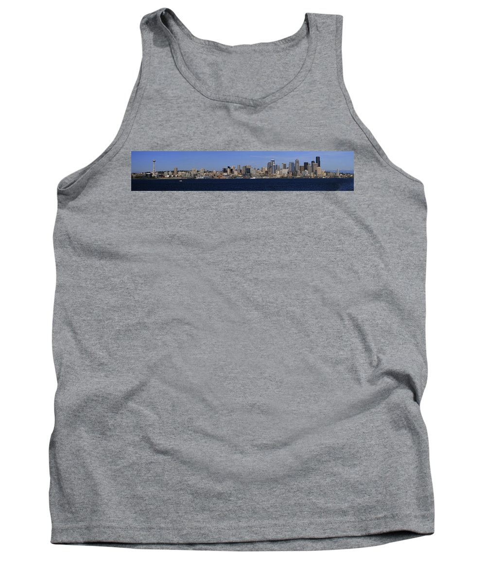 3scape Tank Top featuring the photograph Seattle Panoramic by Adam Romanowicz
