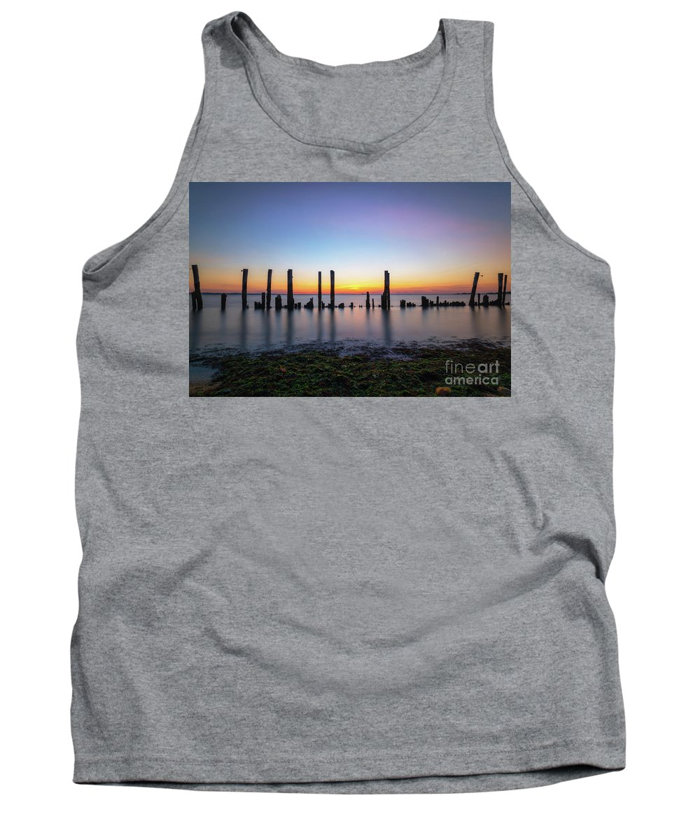 Sandy Hook Tank Top featuring the photograph Seaweed Sunset by Michael Ver Sprill