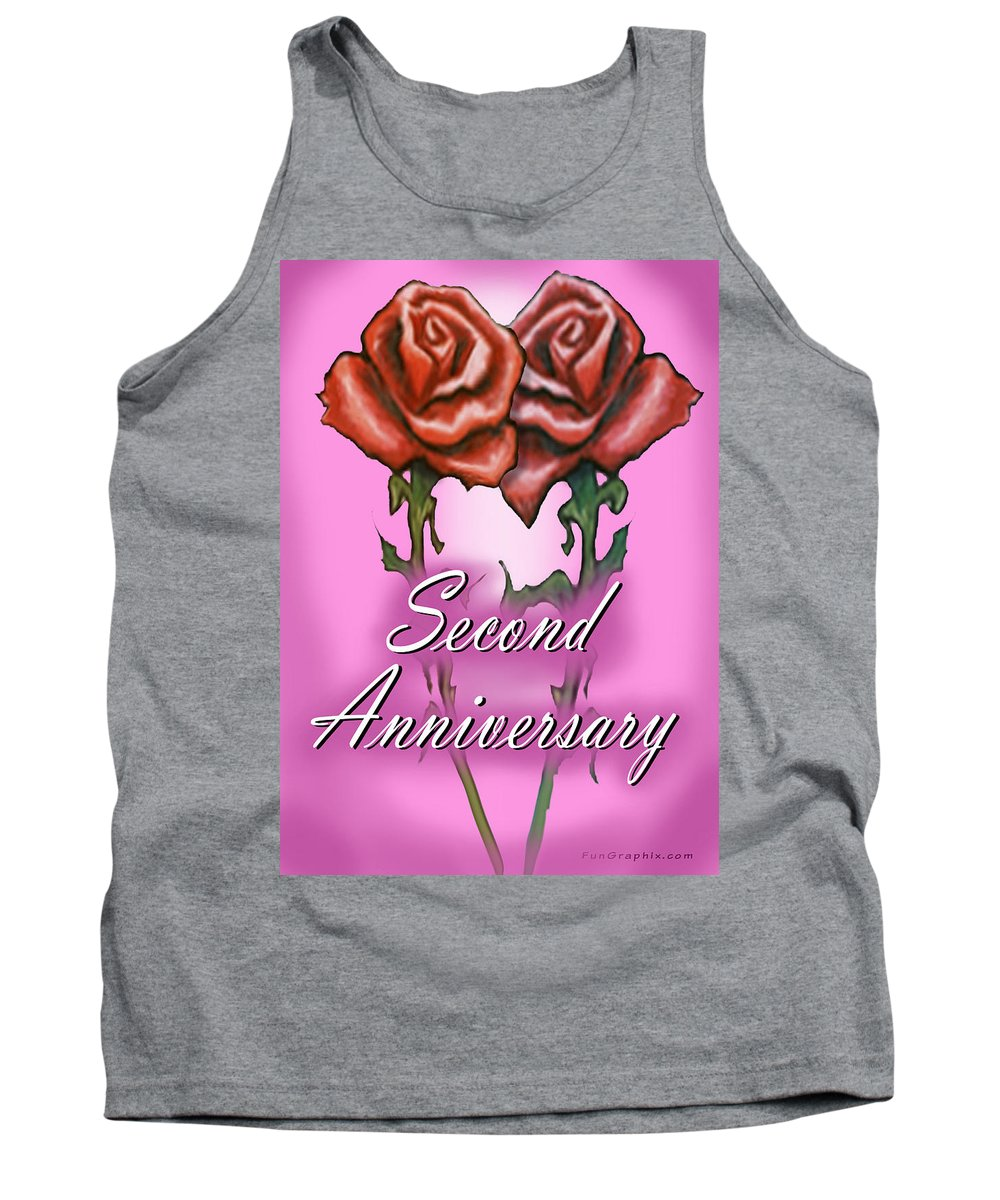 Second Tank Top featuring the greeting card Second Anniversary by Kevin Middleton
