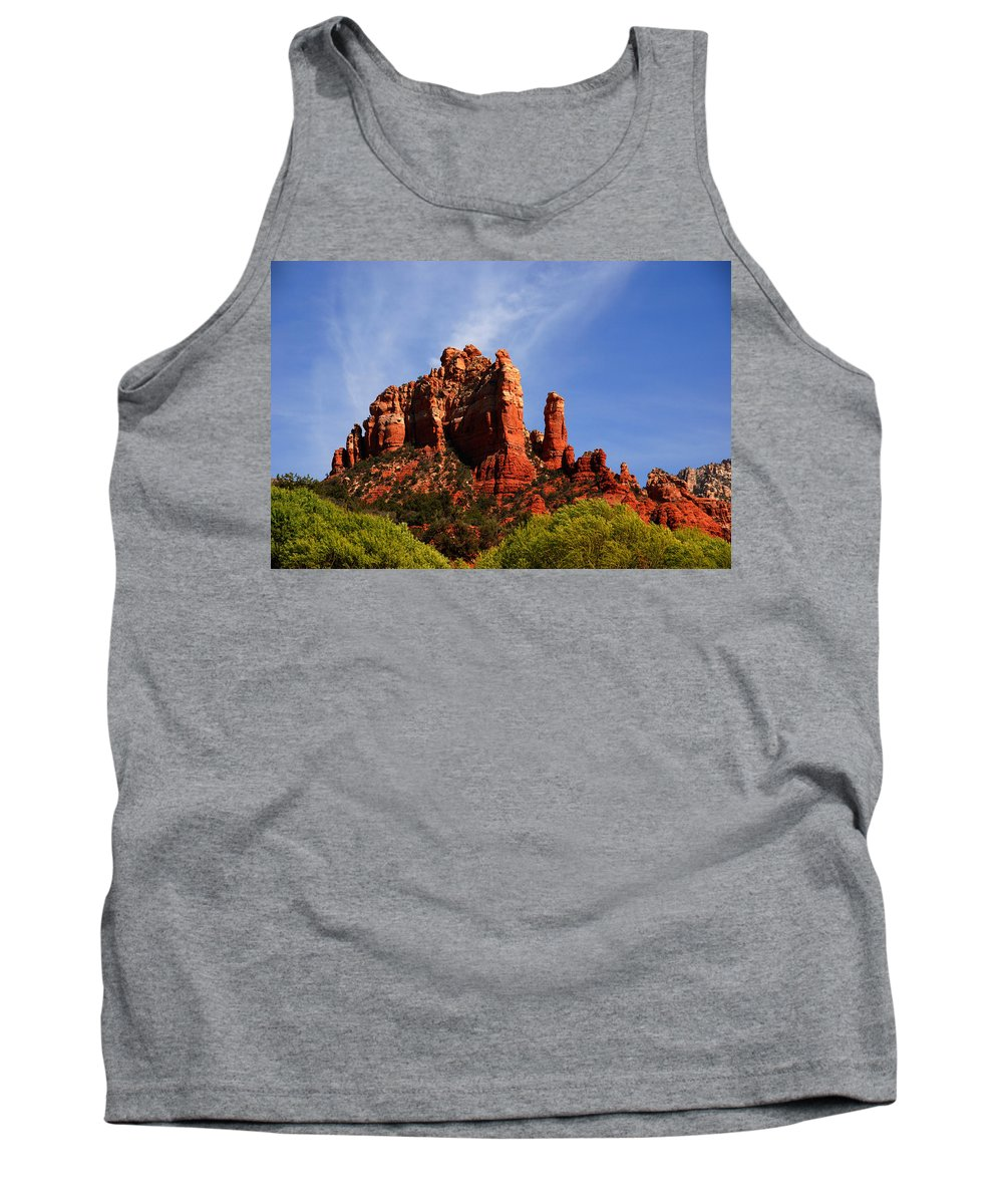 Photography Tank Top featuring the photograph Sedona Rocks by Susanne Van Hulst