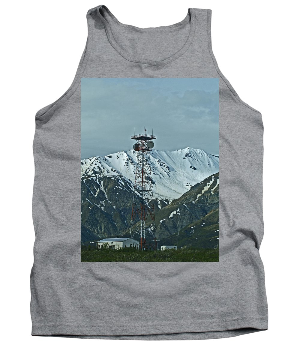 Alaska Tank Top featuring the photograph Sending Voices Across The Land by Denise McAllister