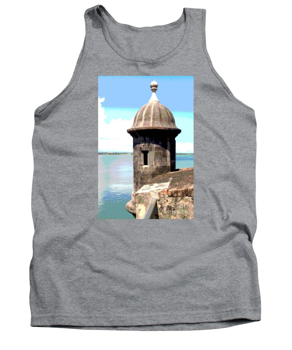 Sentry Tank Top featuring the photograph Sentry Box In El Morro by The Art of Alice Terrill