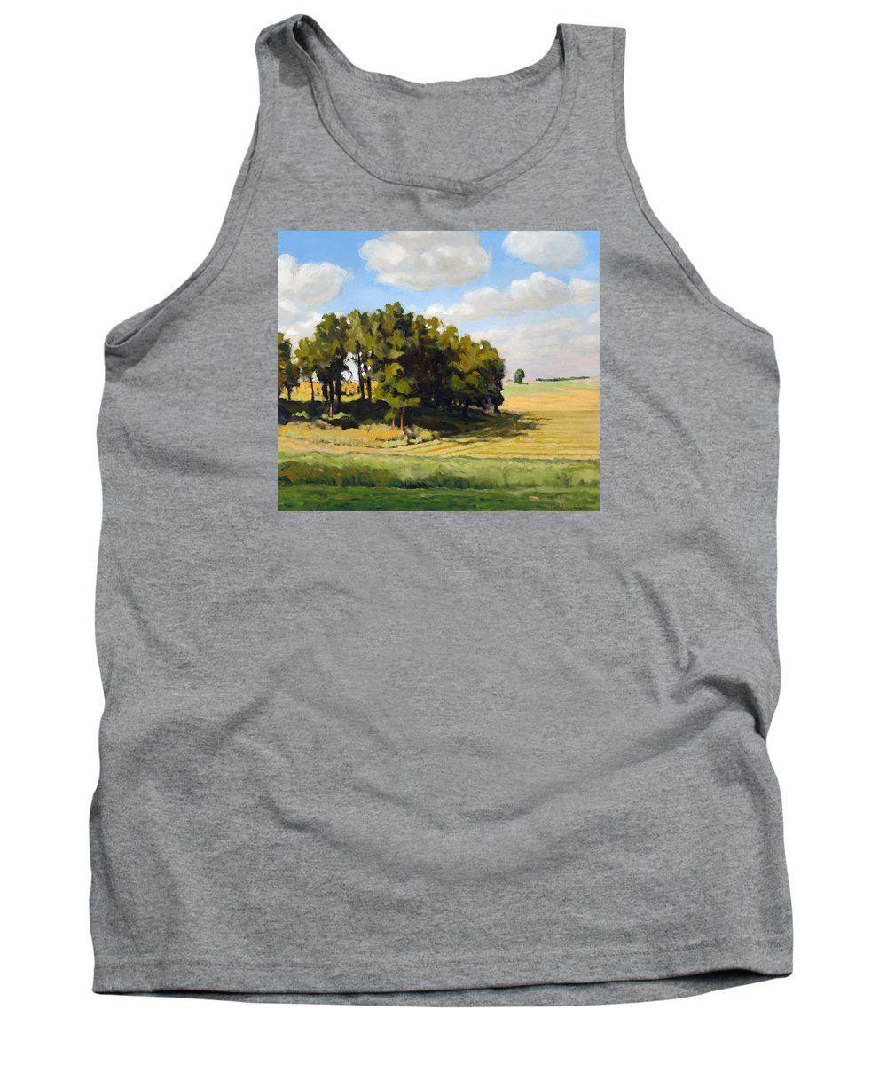 Landscape Tank Top featuring the painting September Summer by Bruce Morrison