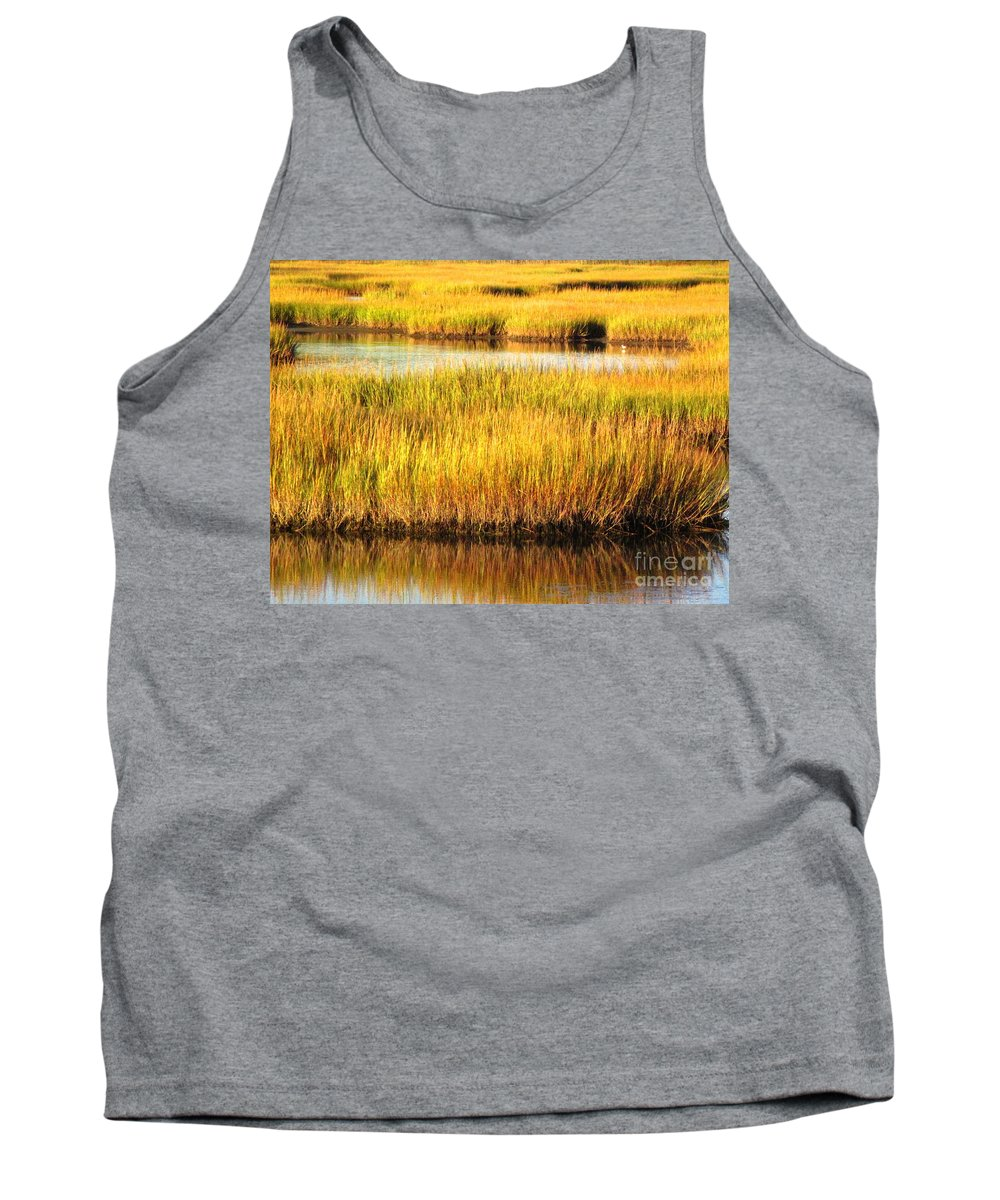 Water Tank Top featuring the photograph Serene Grasses by Sybil Staples
