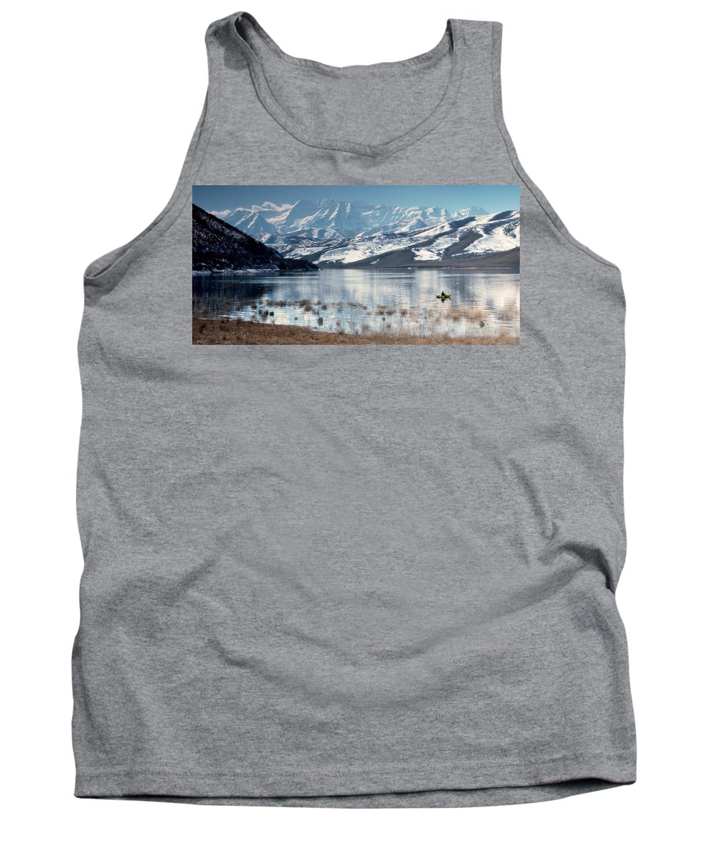 Landscape Tank Top featuring the photograph Serene Paddling by Scott Sawyer