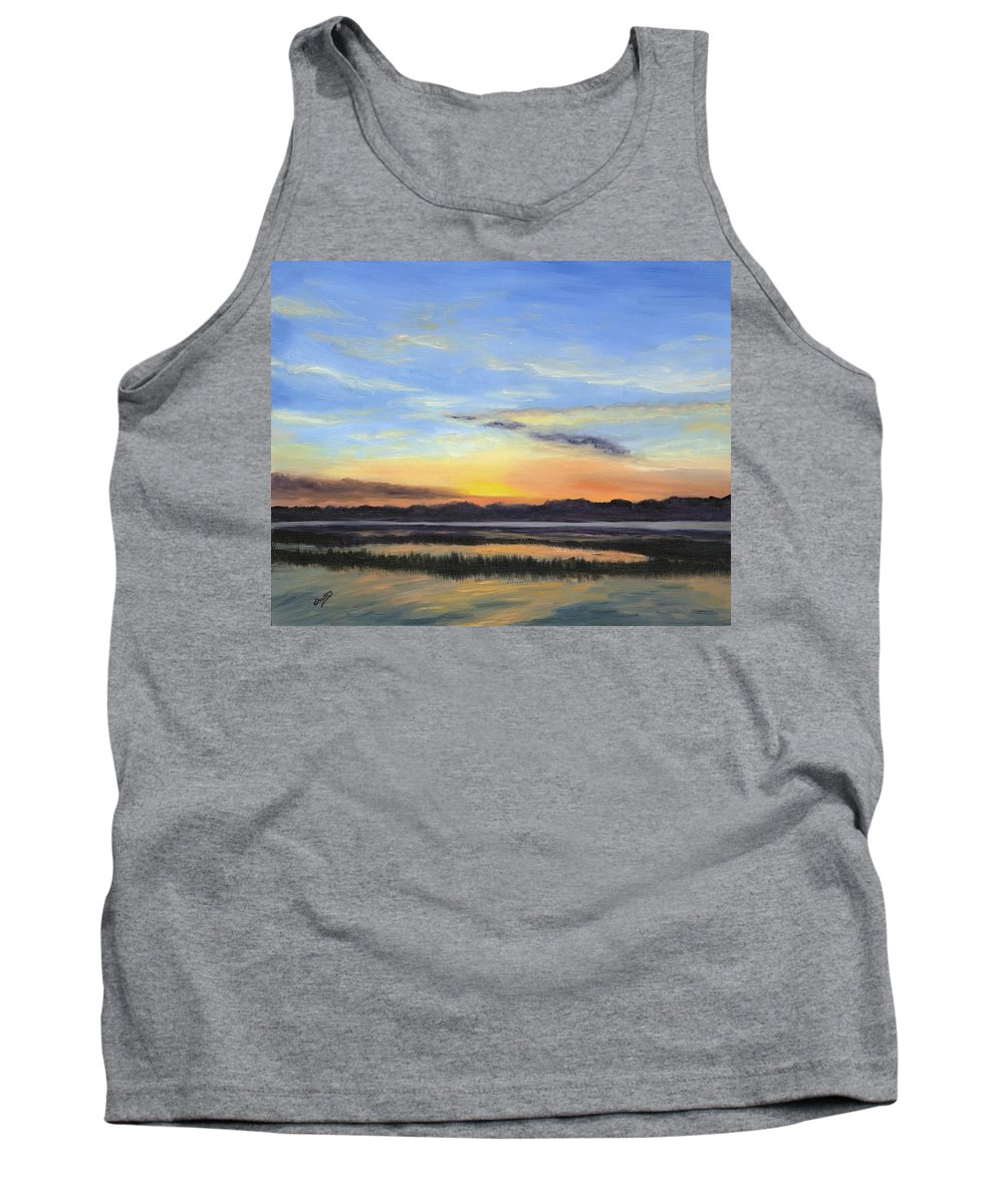 Marsh Paintings Tank Top featuring the painting Serenity by Deborah Butts
