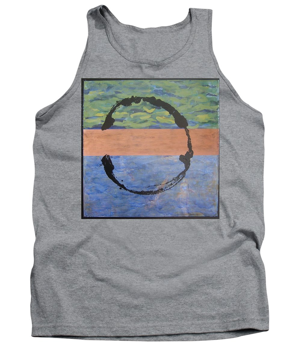 Serenity Tank Top featuring the painting Serenity by Ellen Beauregard