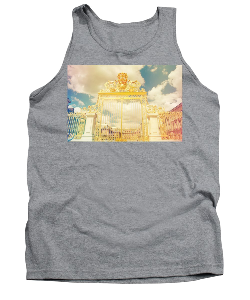 Angle Tank Top featuring the photograph Shabby Chic Gold Gate Versailles by Sandra Rugina