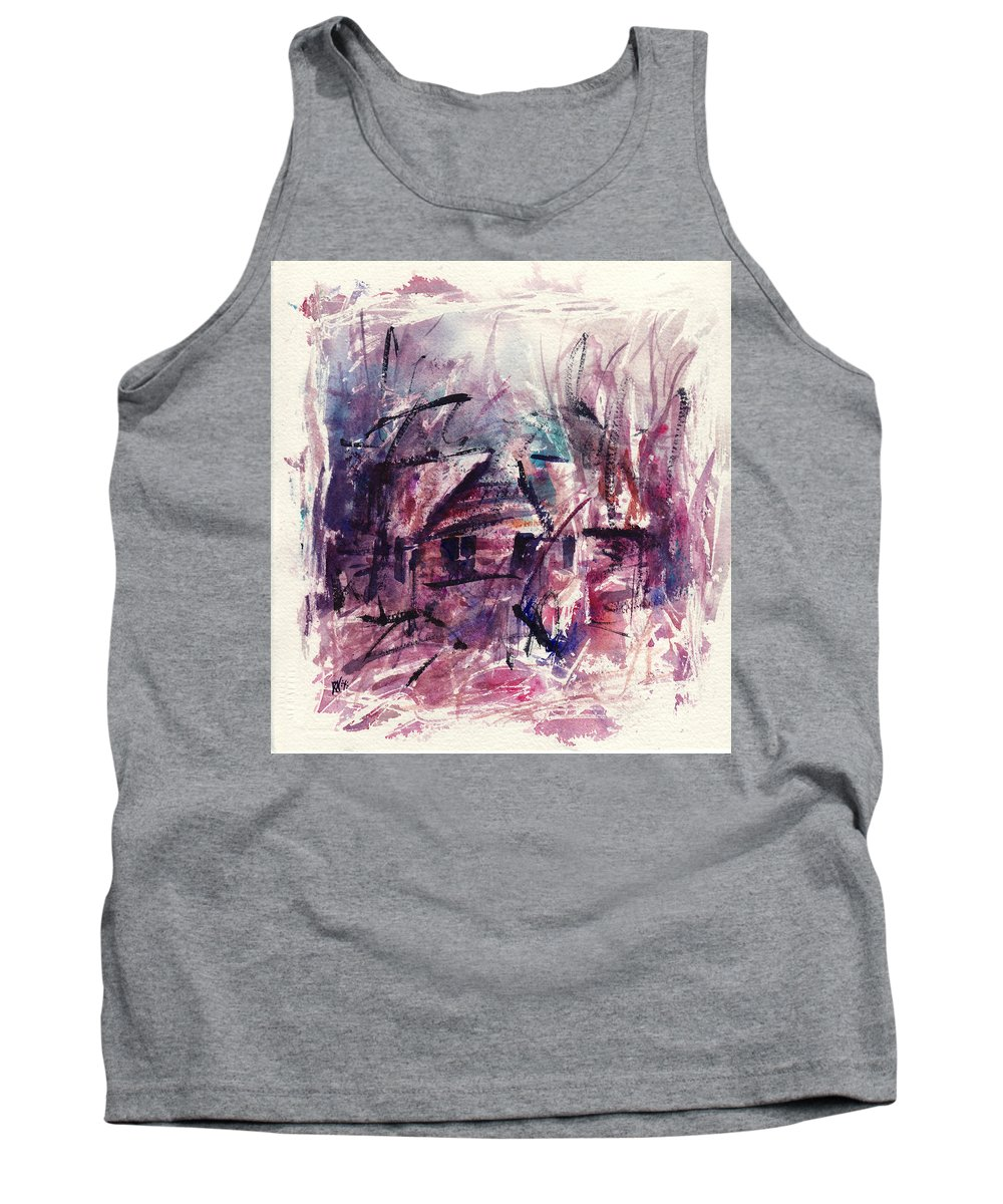Shack Tank Top featuring the painting Shack First Movement by Rachel Christine Nowicki