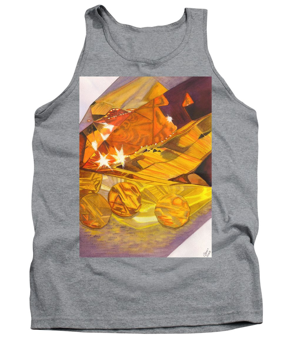Prism Tank Top featuring the painting Shades Of Yellow by Catherine G McElroy
