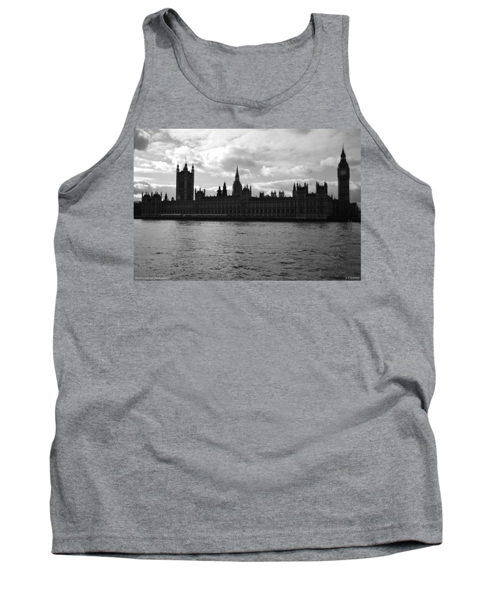 London Tank Top featuring the photograph Shadows Of Parliament by J Todd