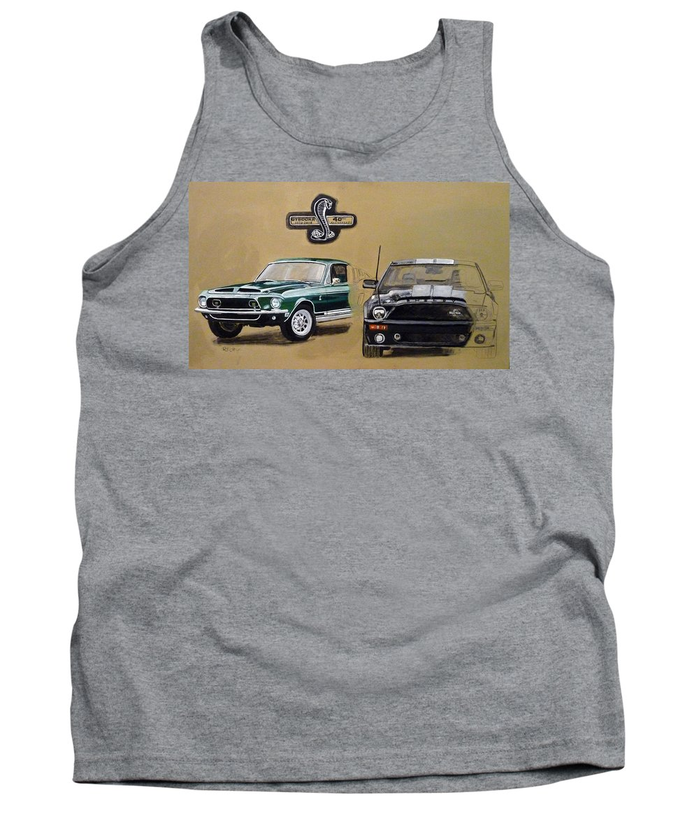 Cars Tank Top featuring the painting Shelby 40th Anniversary by Richard Le Page