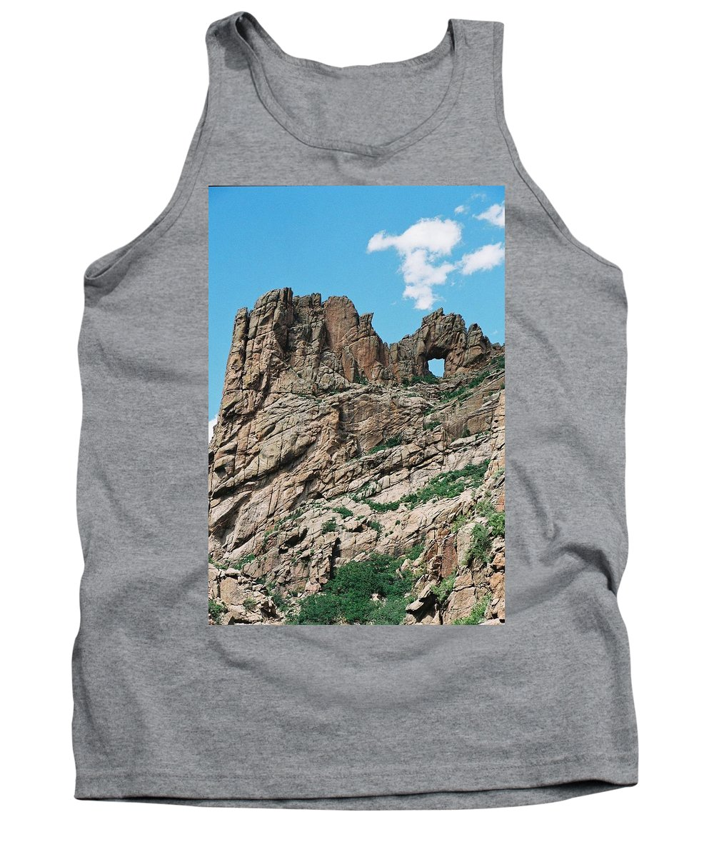 Shelf Road Tank Top featuring the photograph Shelf Road Rock Formations by Anita Burgermeister
