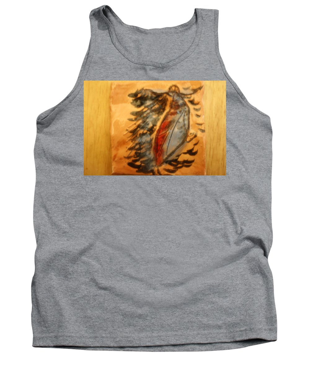 Jesus Tank Top featuring the ceramic art Shivers Of Delight - Tile by Gloria Ssali
