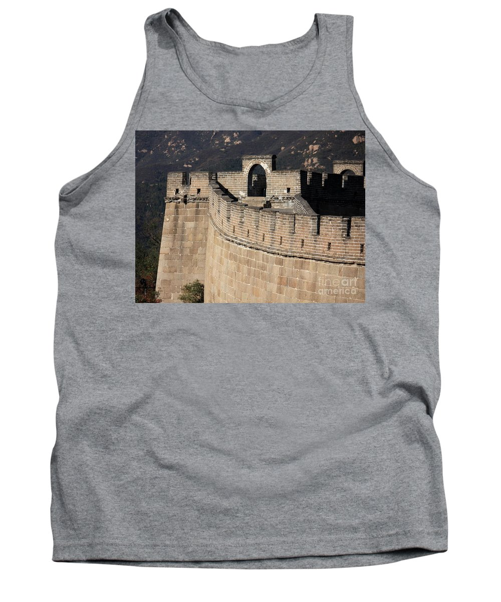 The Great Wall Of China Tank Top featuring the photograph Side View Of The Great Wall by Carol Groenen