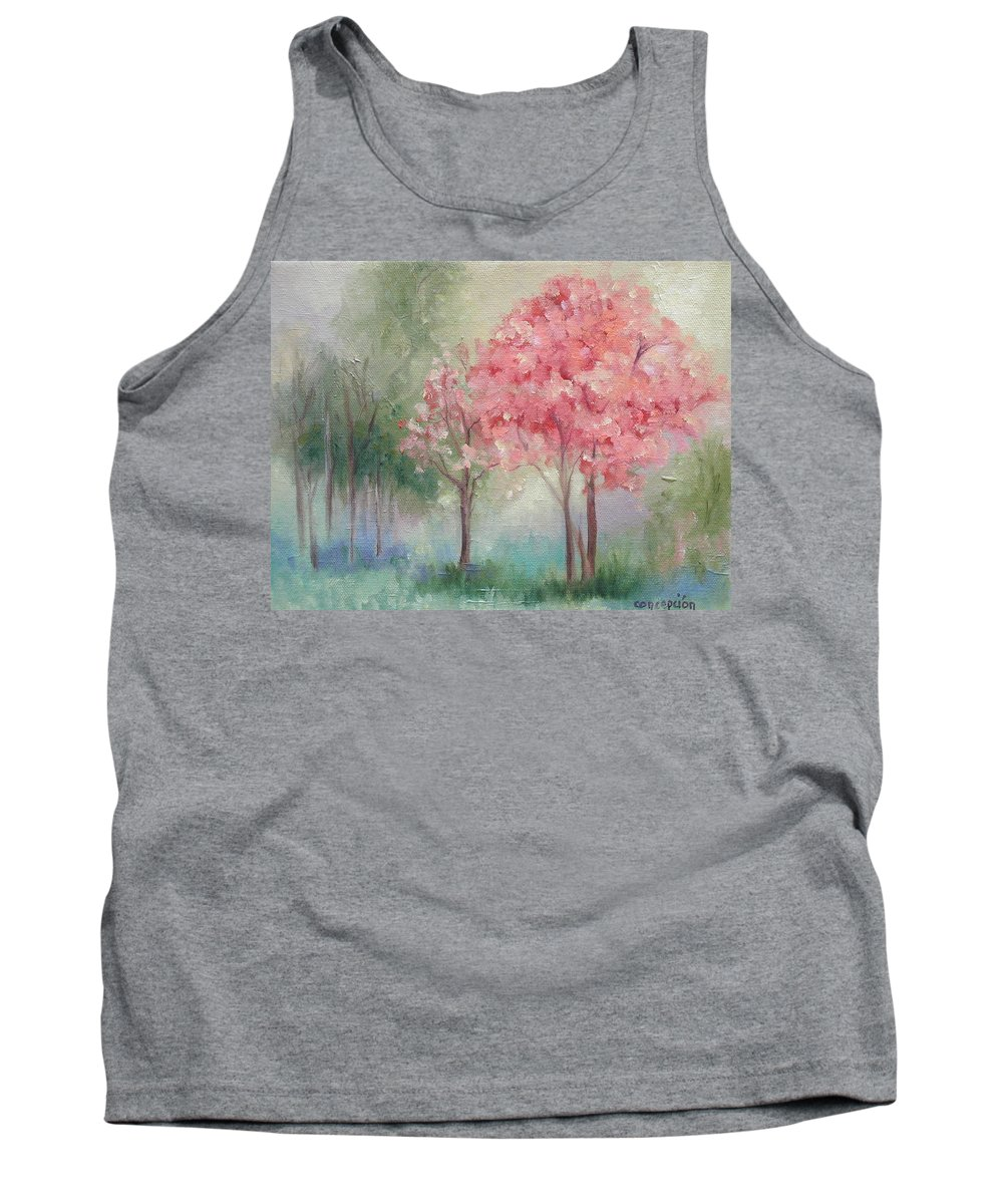Spring Tank Top featuring the painting Sign Of Spring by Ginger Concepcion