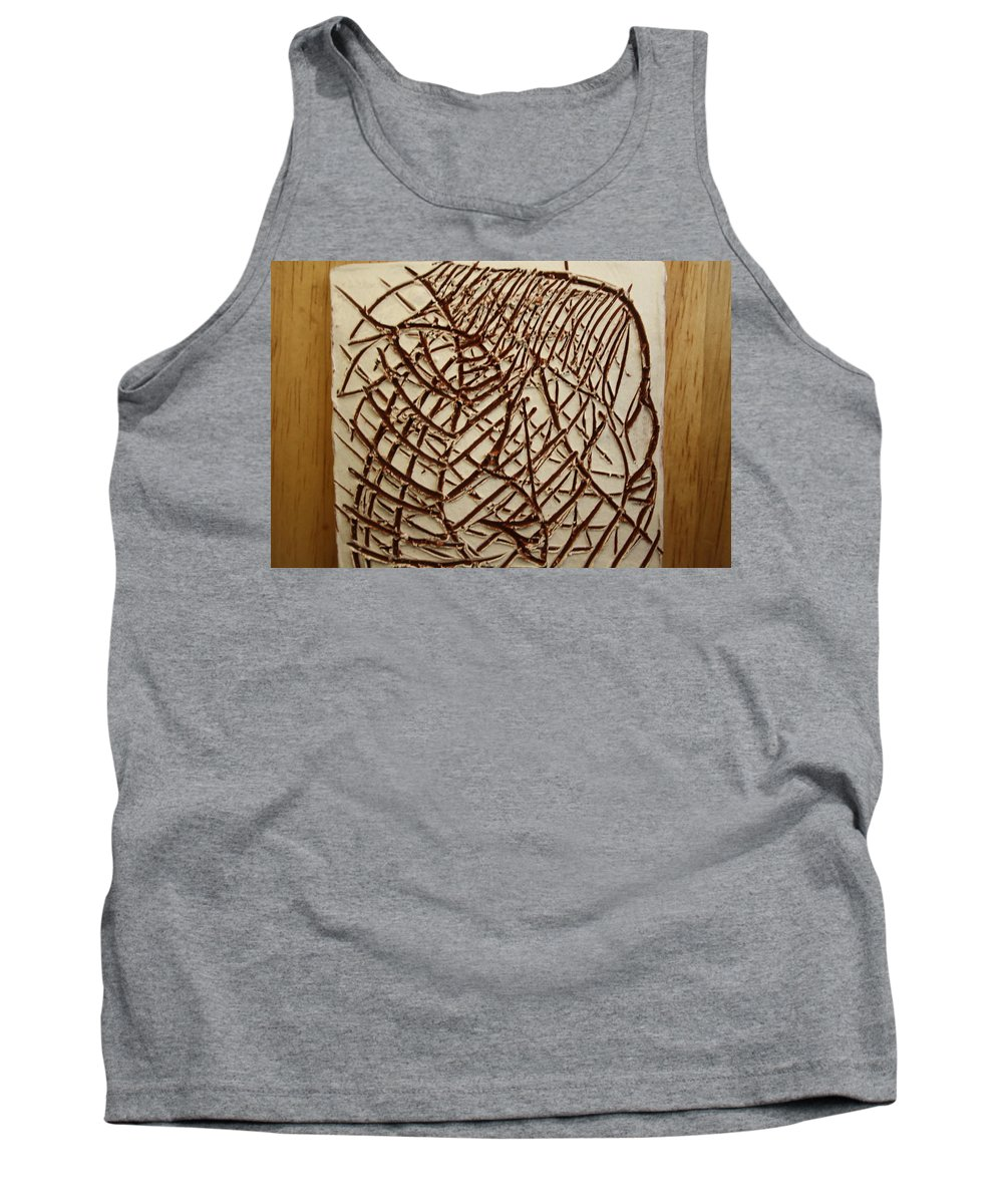 Jesus Tank Top featuring the ceramic art Signs - Tile by Gloria Ssali