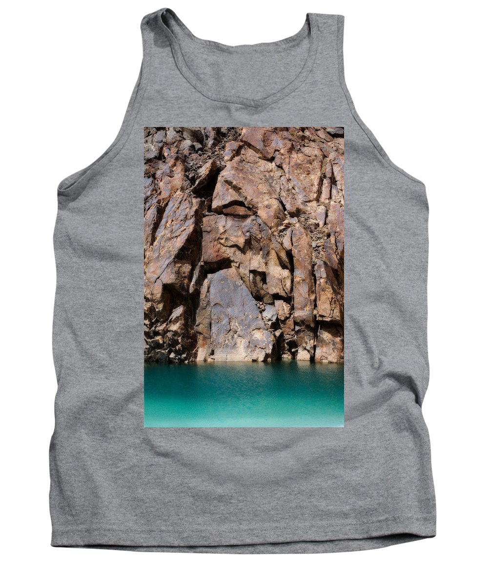 Abstract Tank Top featuring the photograph Silent Rocks by Konstantin Dikovsky