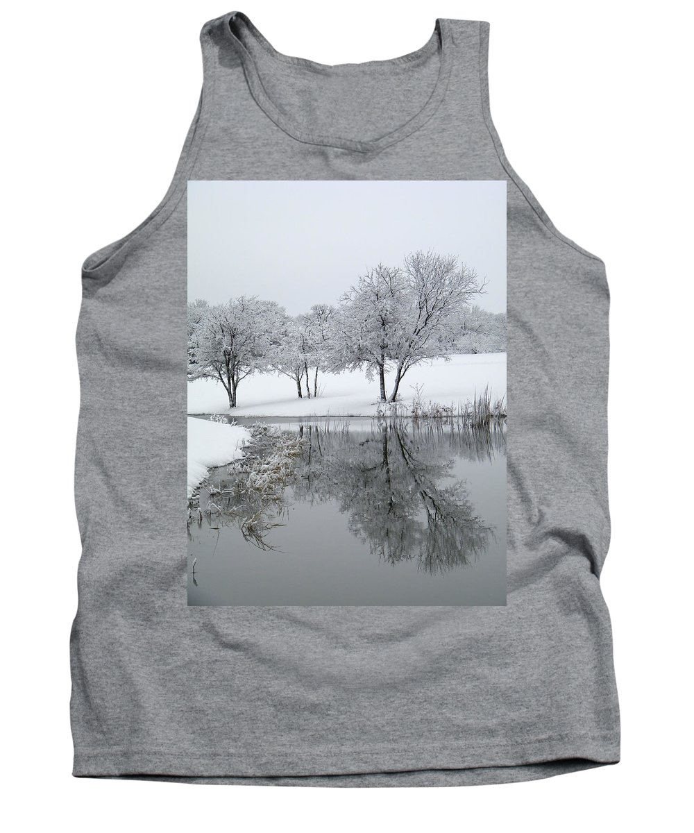 Pond Tank Top featuring the photograph Silver Morn by Gale Cochran-Smith