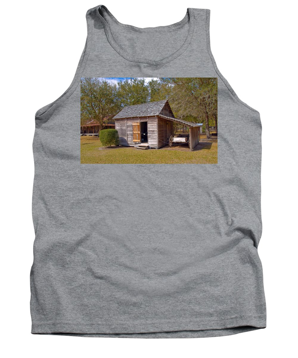 Cabin Tank Top featuring the photograph Simmons Cabin Built In 1873 In Orange County Florida by Allan Hughes