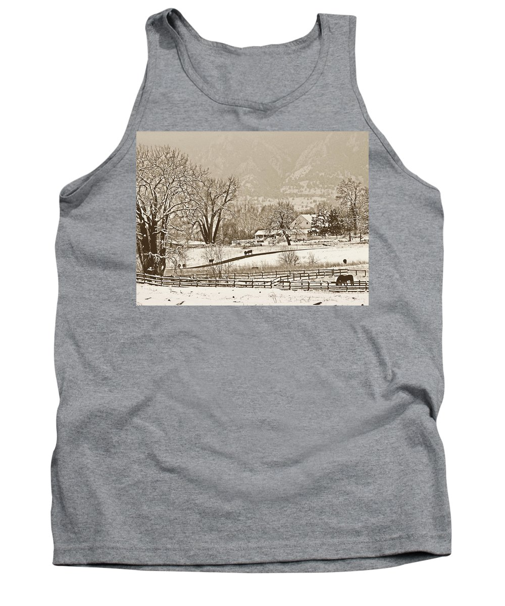 Landscape Tank Top featuring the photograph Simpler Times by Marilyn Hunt