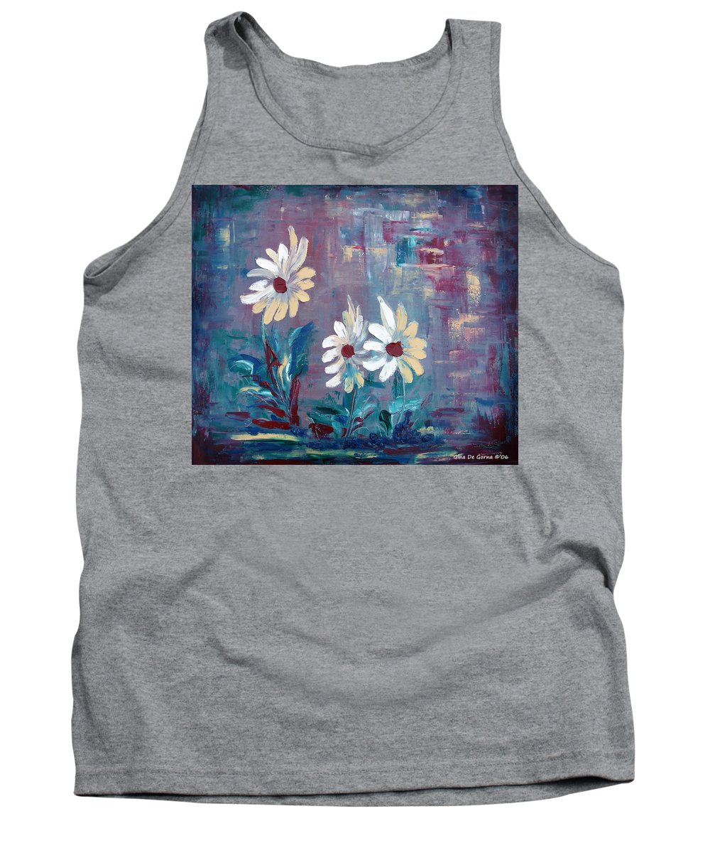 Daisies Tank Top featuring the painting Sisters by Gina De Gorna