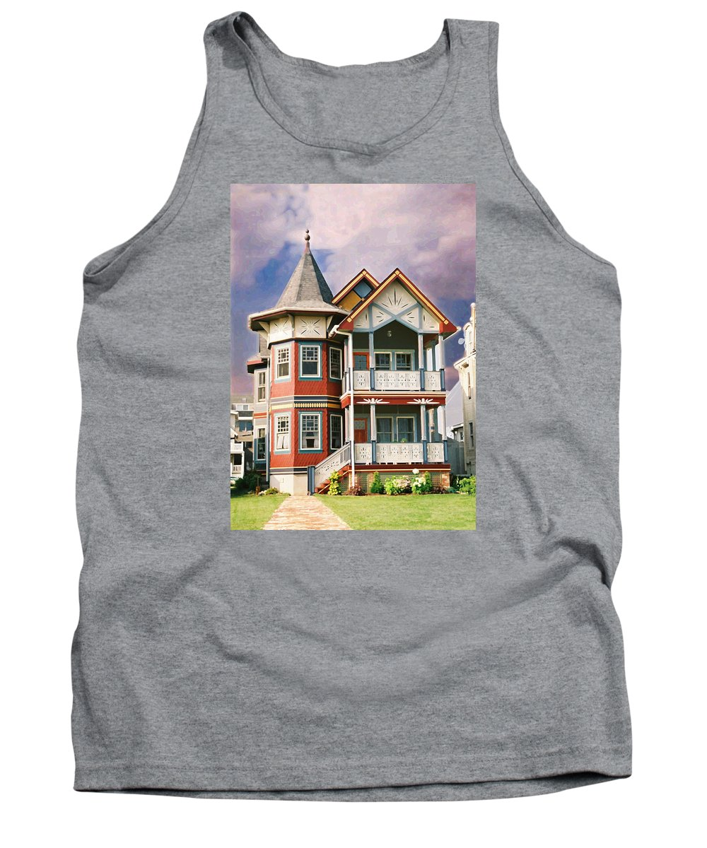 Landscape Tank Top featuring the photograph Sisters Panel Two Of Triptych by Steve Karol