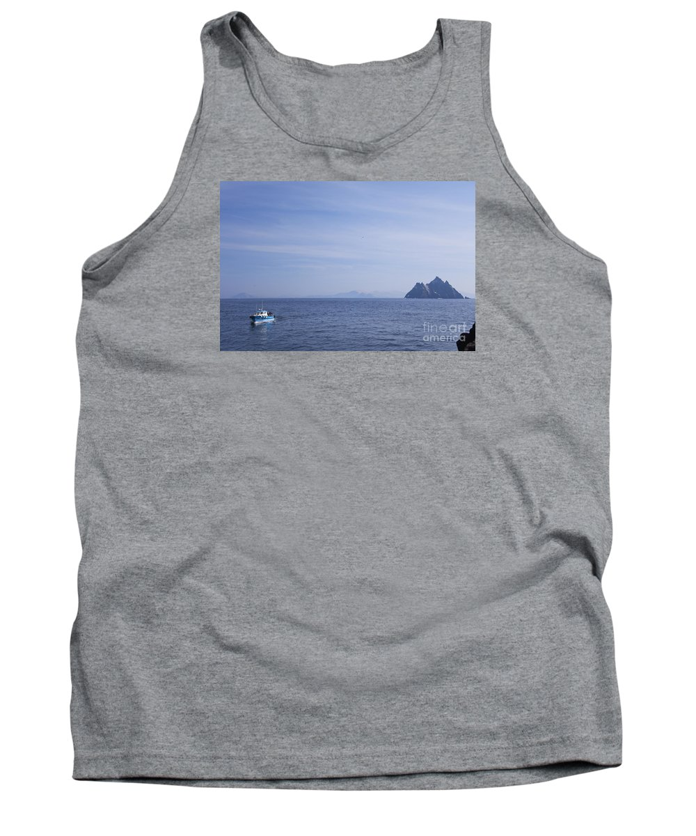 Boat Tank Top featuring the photograph Skellig Michael, County Kerry, Ireland by Peter Barritt