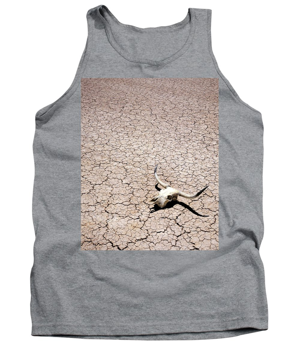 Desert Tank Top featuring the photograph Skull In Desert by Kelley King