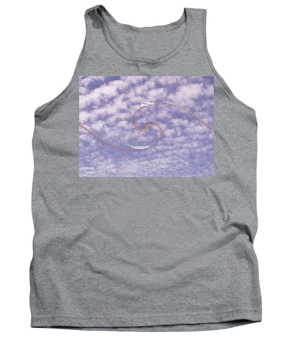 Sail Tank Top featuring the photograph Sky High Sail Surfin by Tim Allen