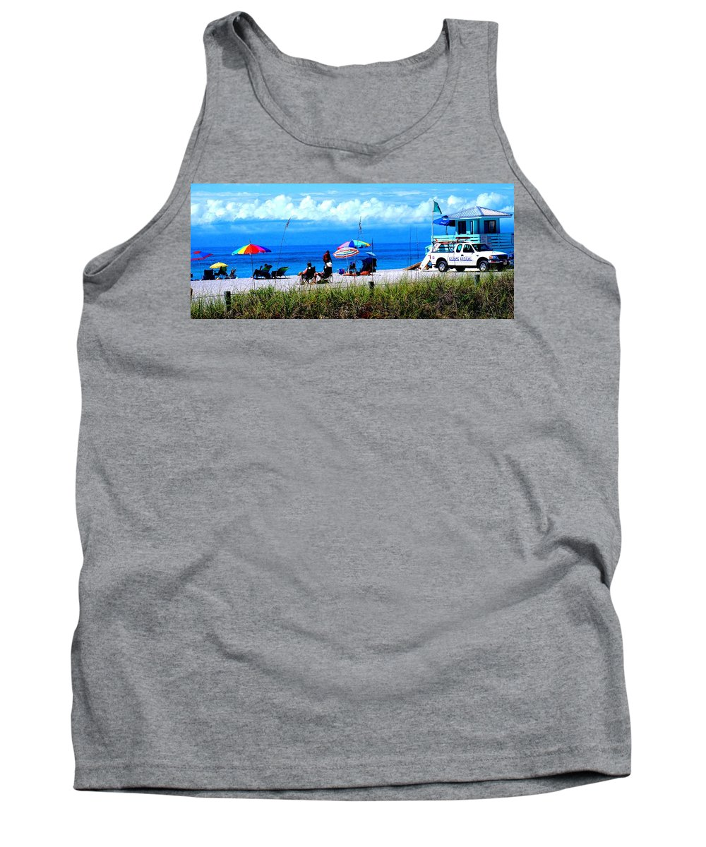 Venice Tank Top featuring the photograph Slice Of Venice Beach by Ian MacDonald
