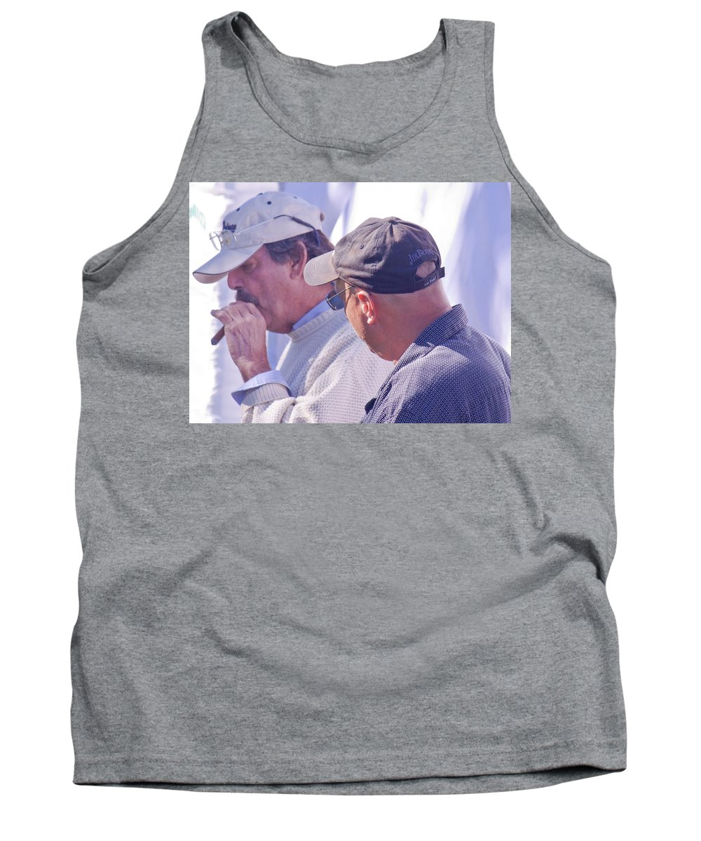 Men Tank Top featuring the photograph Smoke Break by Donna Walsh